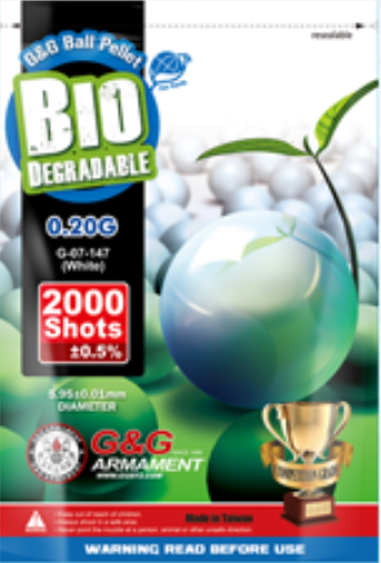 G&G Bio BB´s 0,25g - 2000 Schuss