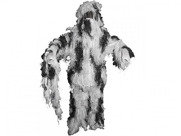 "Tarnanzug ""Ghillie Suit"" - Schneetarn / MFHGSSNML"