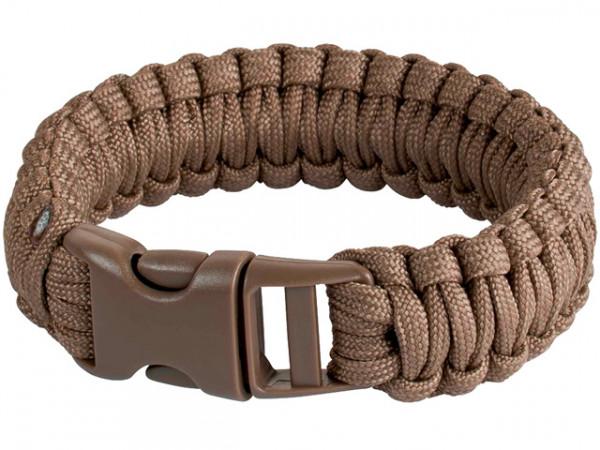 JG Survivalarmband 9 inch - COYOTE / 09JG243