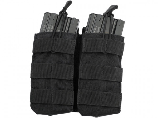 Double Open-Top M4 Mag Pouch - Schwarz