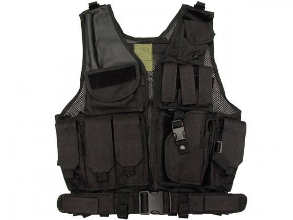 Tactical Weste - Schwarz / TW-KRA-S