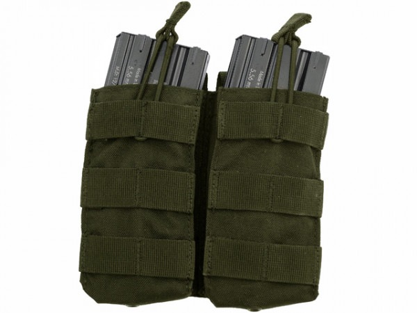 Double Open-Top M4 Mag Pouch - Oliv