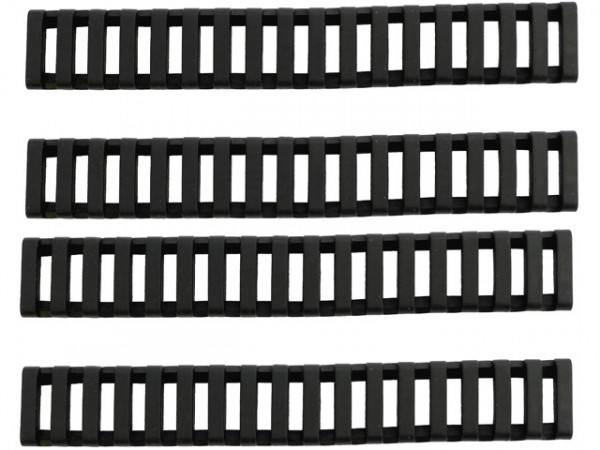 Gummi Rail Cover Set 22mm RIS 170mm - Schwarz / BOYIRC22MMRIS170