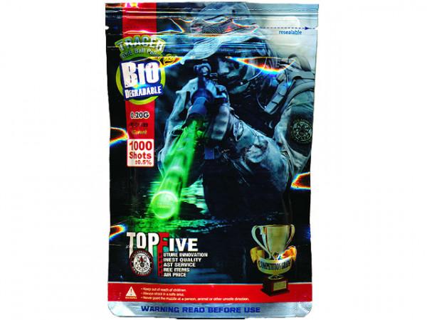 1.000 6mm BIO TRACER BBs 0,20g PSBP - Green / G&GBIOTRPSBP20GR10