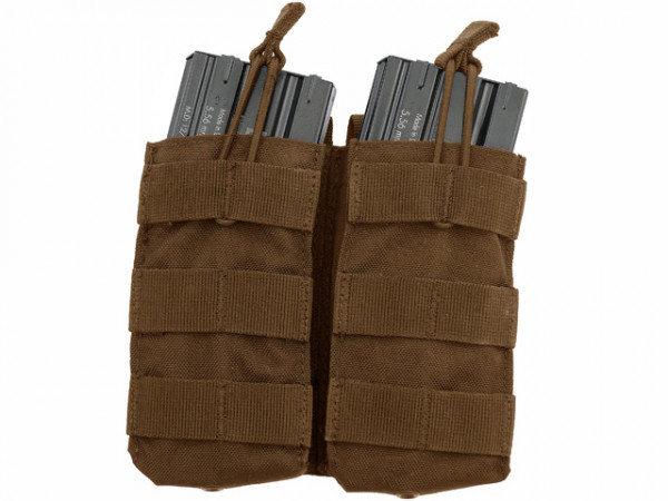 Double Open-Top M4 Mag Pouch - TAN